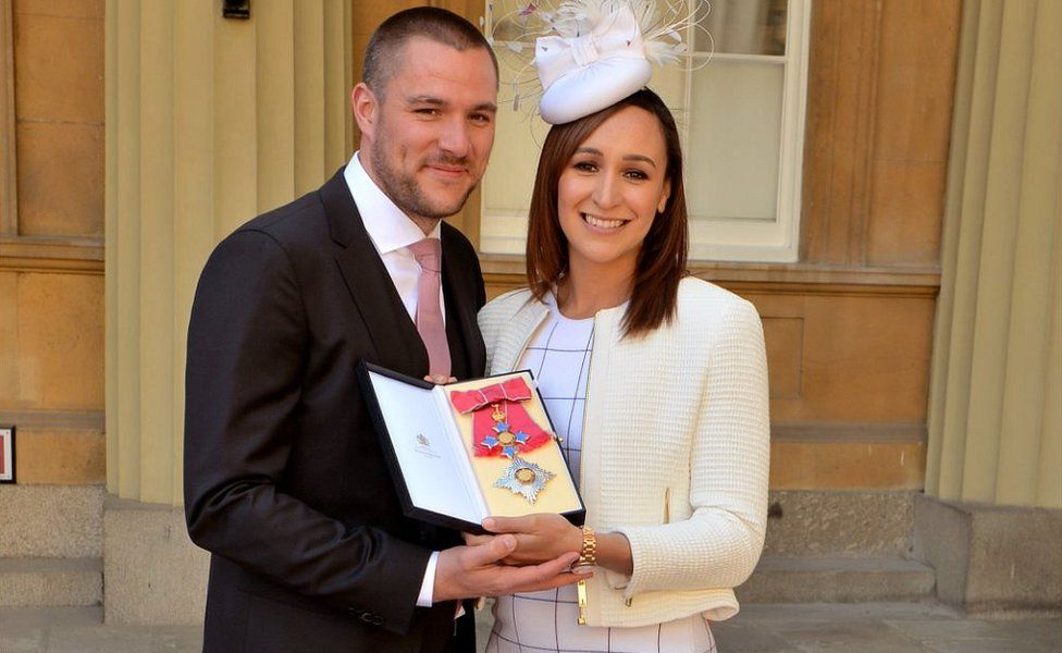 Jessica Ennis-Hill with husband Andy Hill