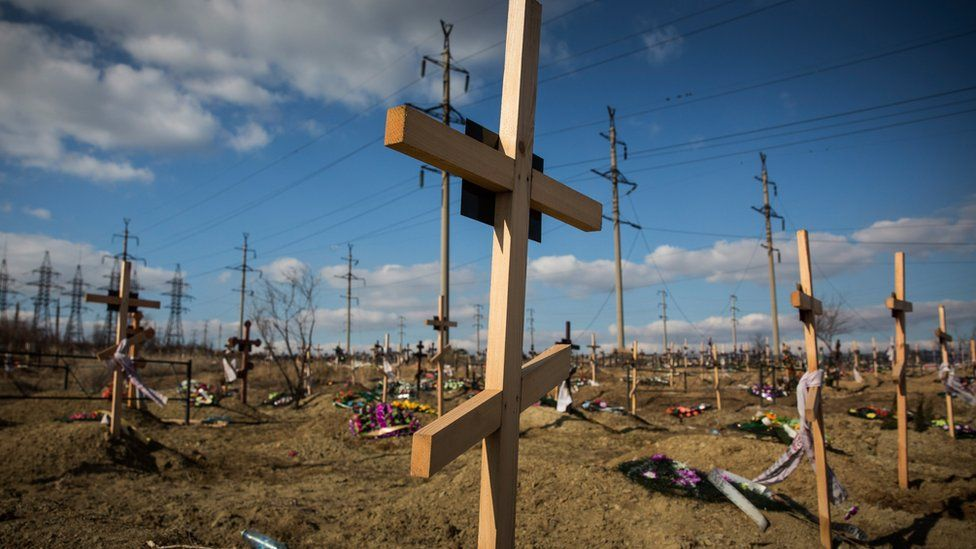 Graves created by the conflict in eastern Ukraine