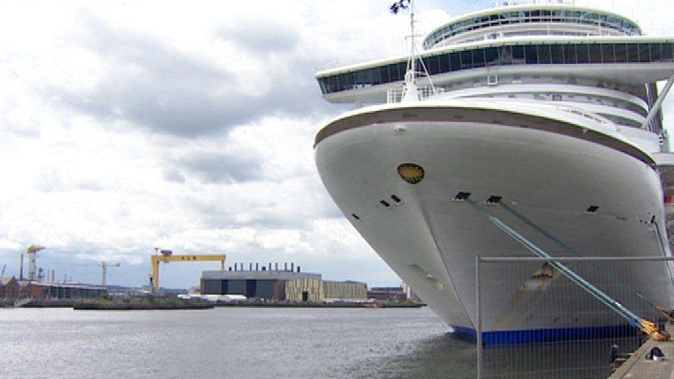 A cruise ship in Belfast