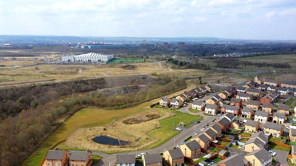 Former industrial site at Ravenscraig in Motherwell