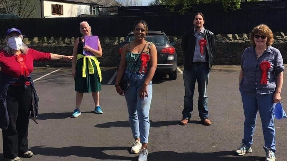 Khady campaigning to be a local councillor