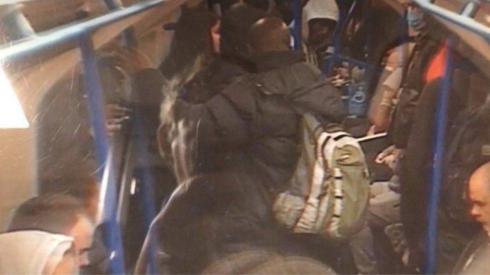 CCTV footage of Victoria line