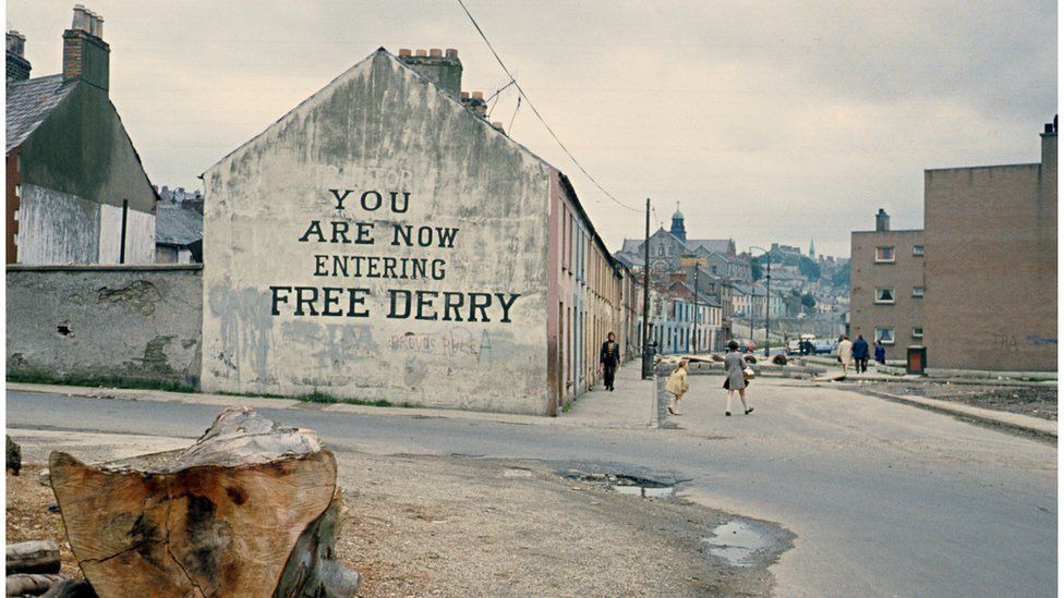 Free Derry Corner mural in 1972.