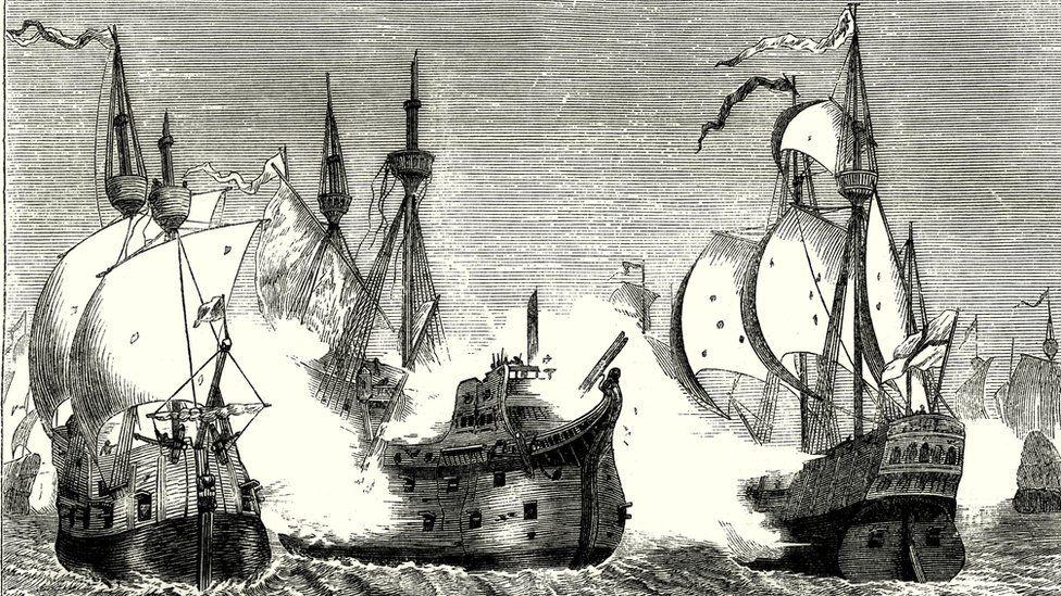 Engraving of the Spanish Armada