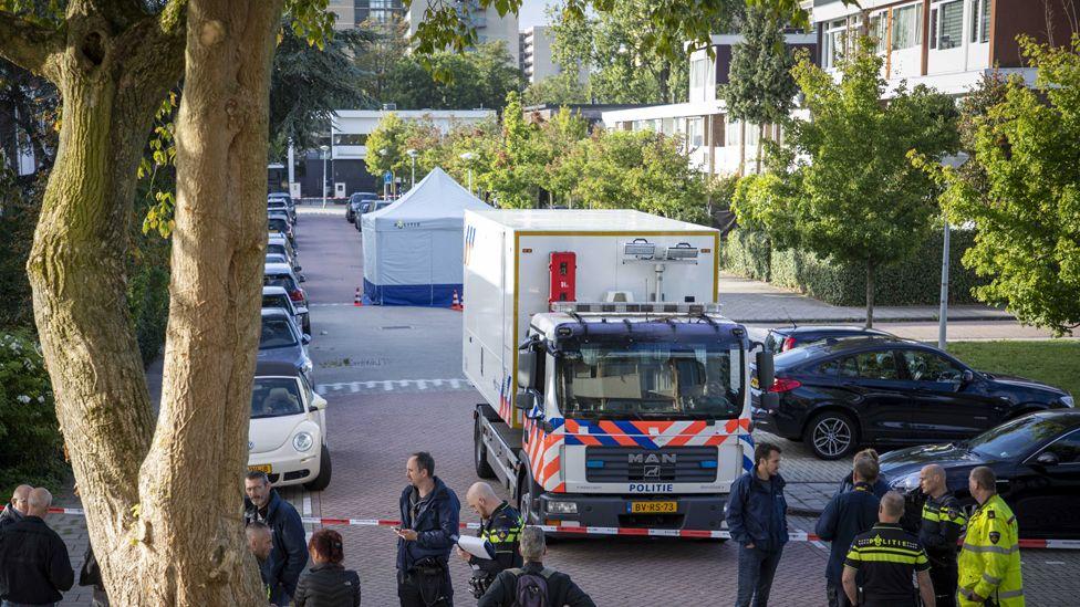Police at Imstenrade, Buitenveldert, Amsterdam-South, 18 Sep 19