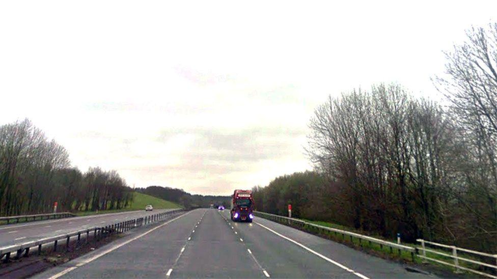 The A74(M) near Junction 16, Johnstonebridge