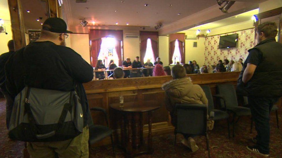 A meeting in a Bradford pub