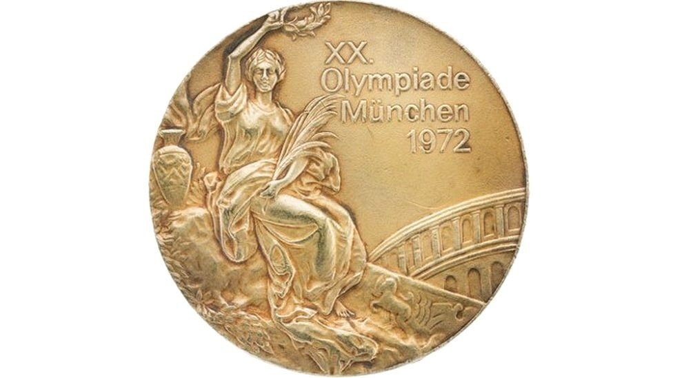 One of Korbut's gold medals