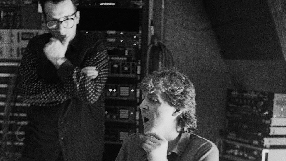 Elvis Costello and Sir Paul McCartney