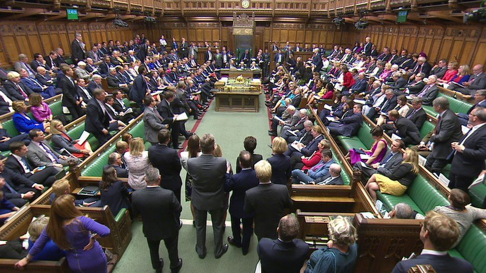 MPs in the House of Commons for PMQs
