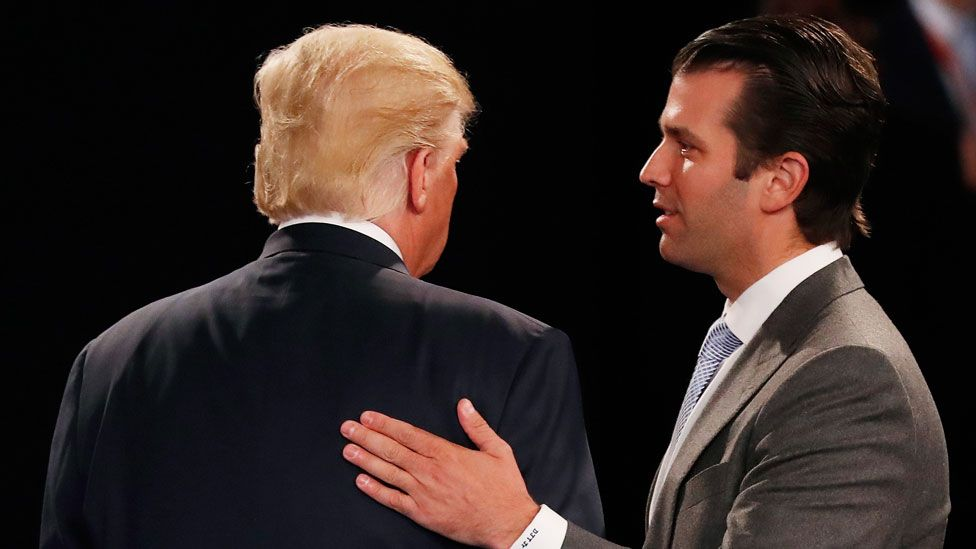 Donald Trump Jr with father