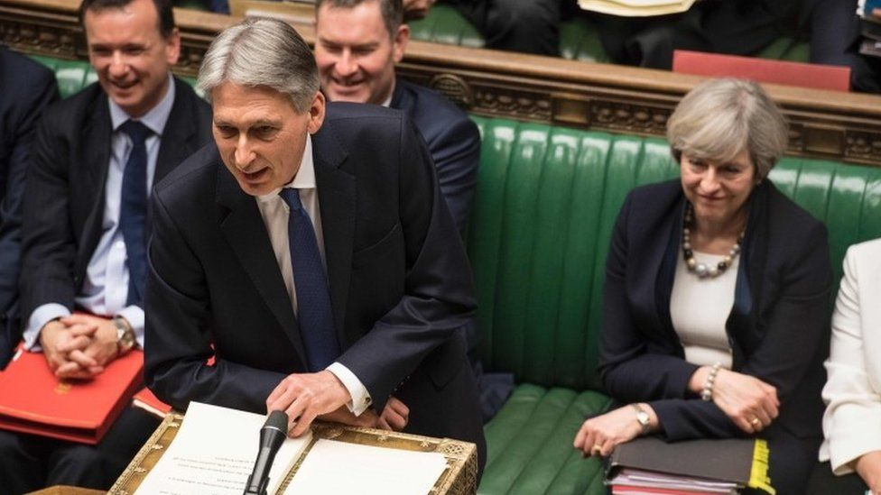 Philip Hammond at the dispatch box