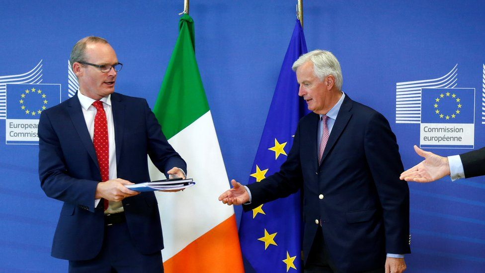 Michel Barnier was speaking after a meeting with Irish Foreign Minister Simon Coveney