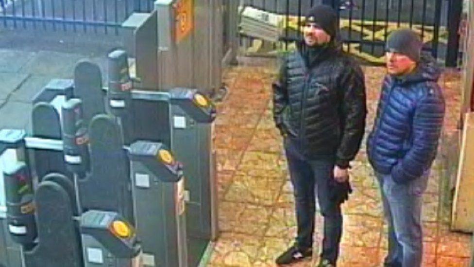 CCTV image of Salisbury poisoning suspects Alexander Petrov and Ruslan Boshirov