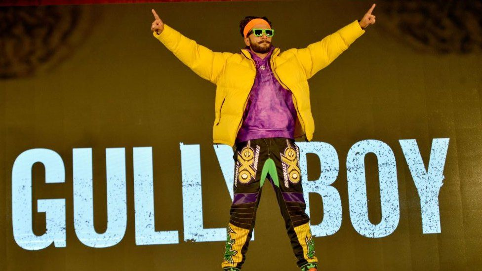 Ranveer Singh at the trailer launch of his movie Gully Boy in Mumbai.