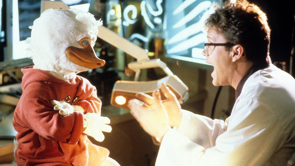 Howard the Duck and actor Tim Robbins