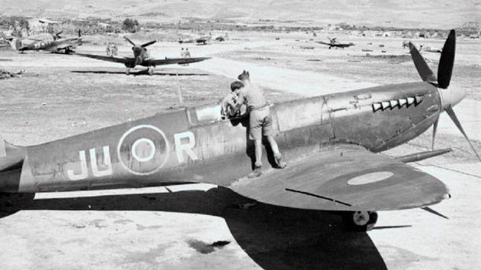 A Spitfire from 111 Squadron