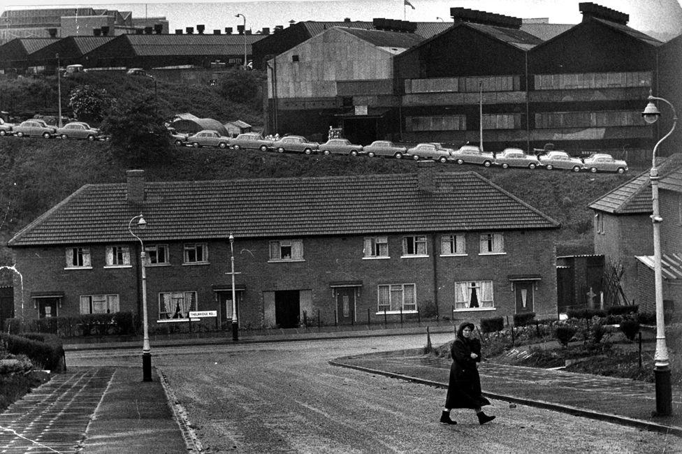 Longbridge car plant, 1957