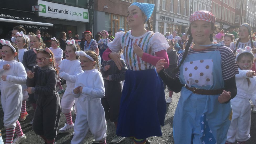"""Derry City and Strabane Mayor John Boyle paid particular mention to the city's young people for showcasing """"their tremendous imagination"""" in the parade"""