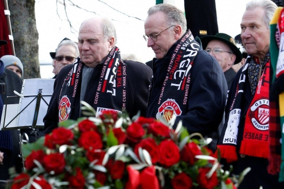 Bayern Munich President Uli Hoeness and CEO Karl-Heinz Rummenigge