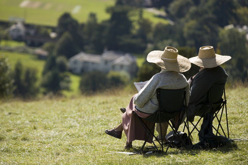 older couple relaxing