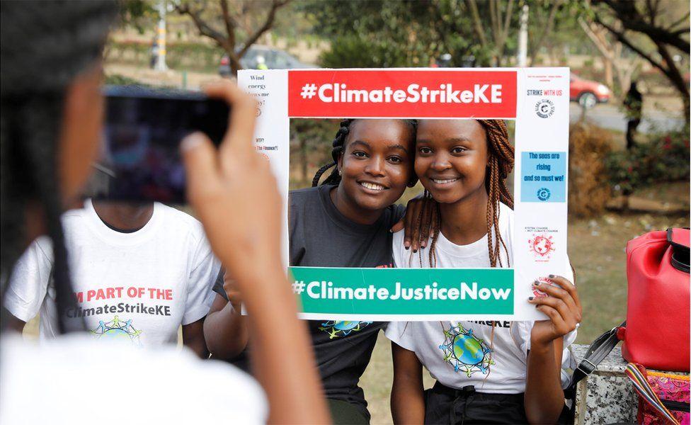 Protesters in Nairobi