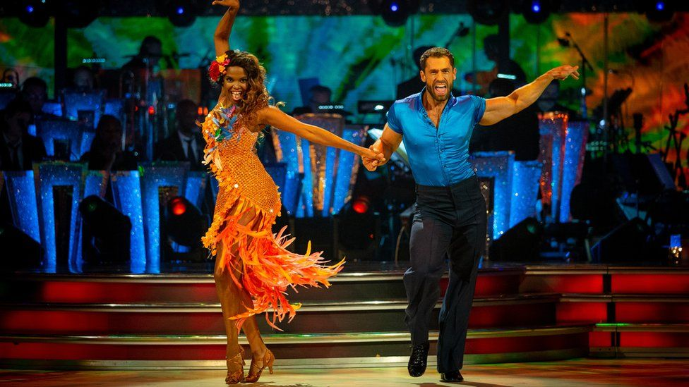 Oti Mabuse and Kelvin Fletcher performing the Samba