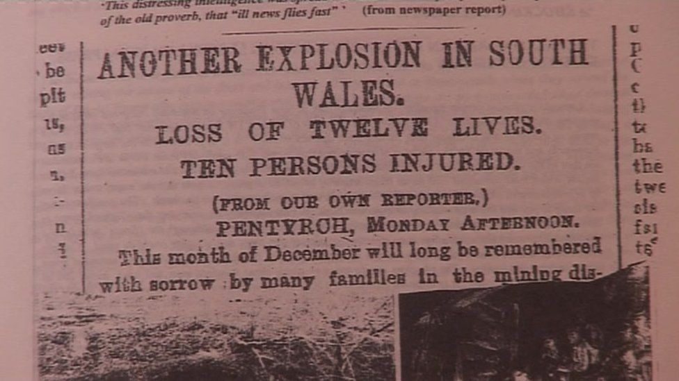 Newspaper report of the disaster