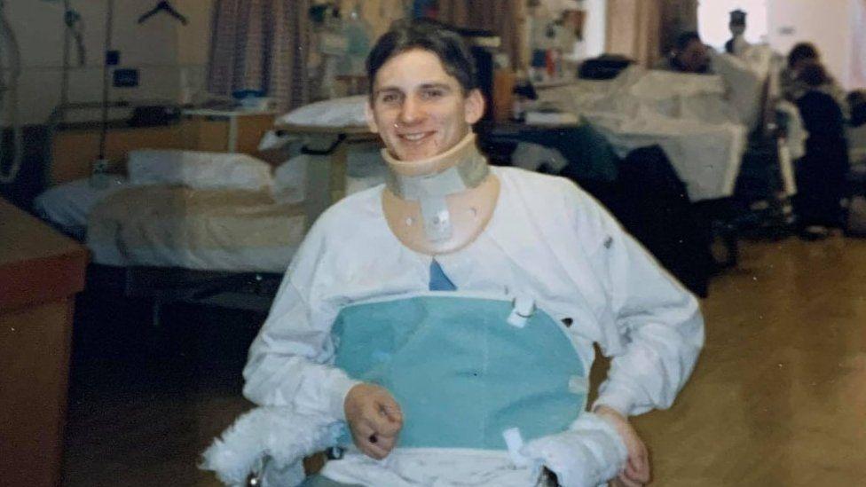 Steven Webb in hospital