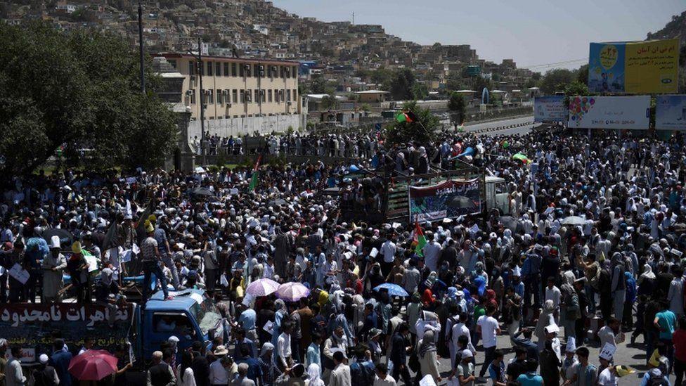 Hazara protesters, Kabul, 23 July