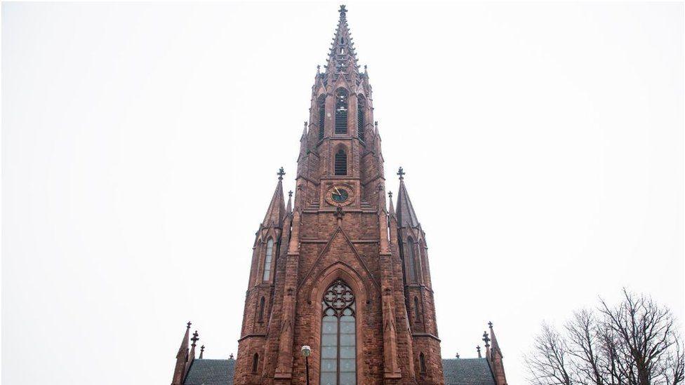 Saint Louis Roman Catholic Church on December 4, 2019, at Edward Street in Buffalo, New York