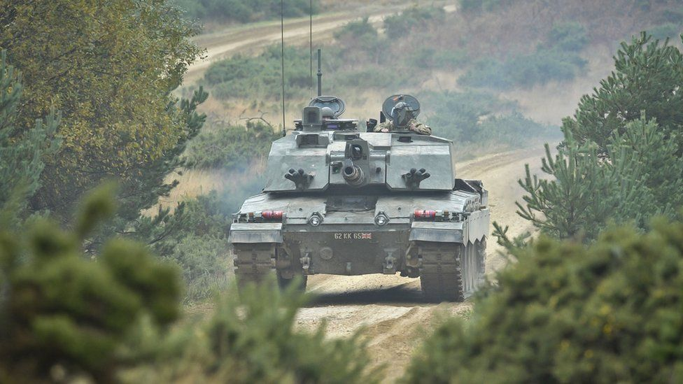A Challenger 2 British Army Tank