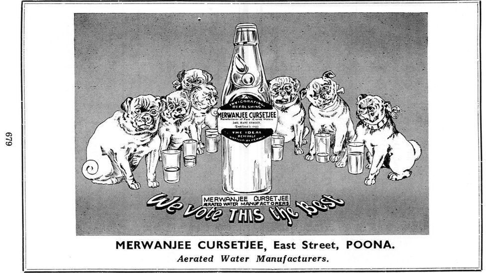 Poster of a Parsi aerated water manufacturing company