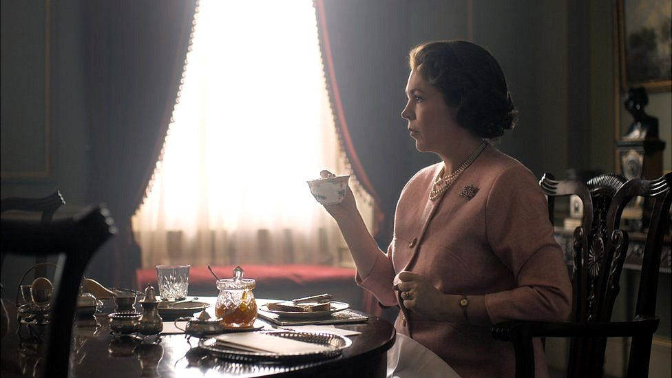 Olivia Colman playing the Queen in the third series of Netflix's The Crown
