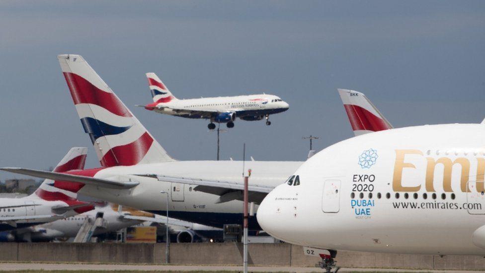 Aircraft at Heathrow