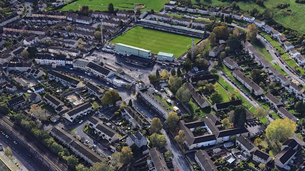 Aerial view of Twerton Park