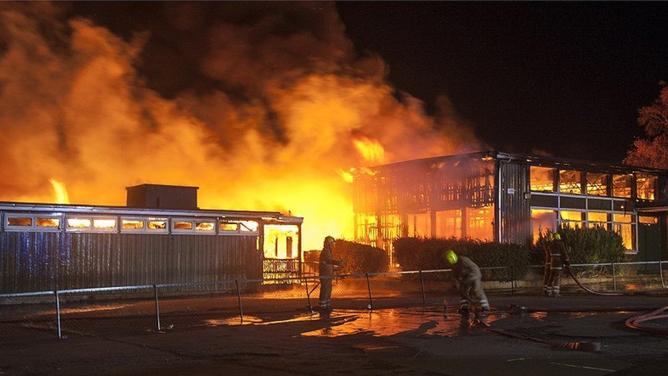 Fire at Paradykes Primary School