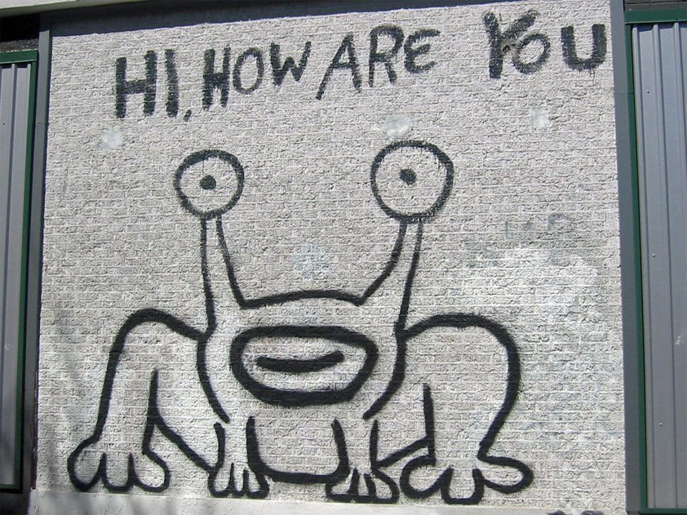 Daniel Johnston's mural in Austin Texas