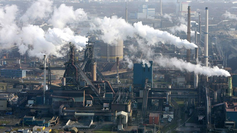 The giant Hoogovens plant in Holland