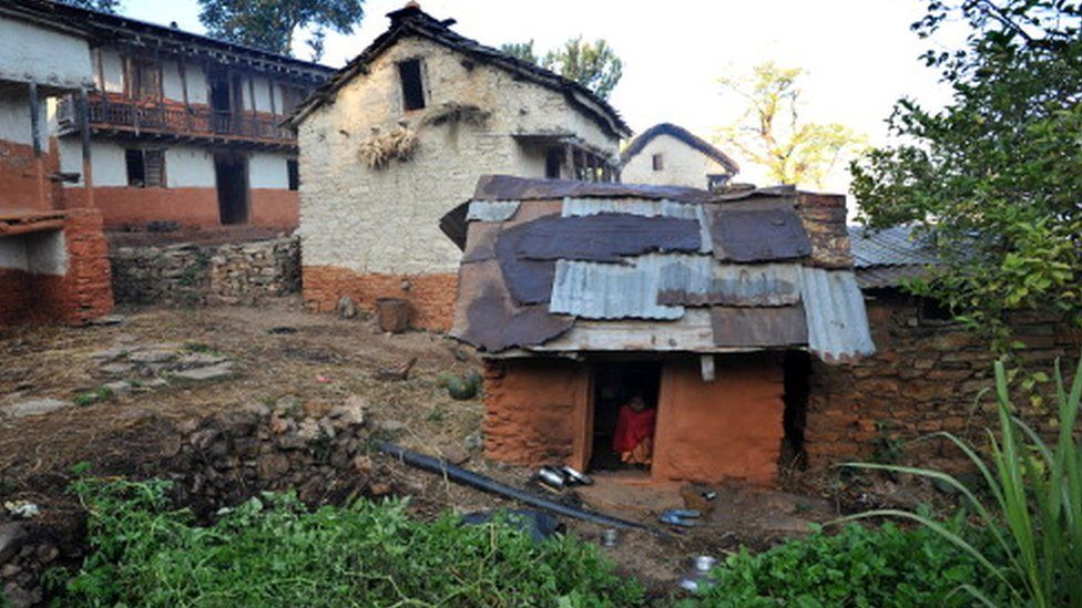 A hut used by a teenaged girl so that she can menstruate in isolation in the village of Achham, some 800km west of Kathmandu (23 November 2011)