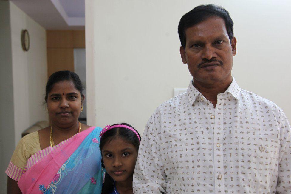 Arunachalam Muruganantham, his wife Shanthi and their daughter