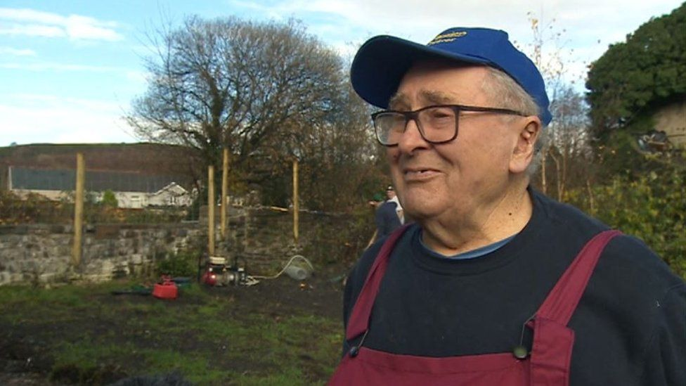 Retired milkman Dennis Murphy is one of the oldest members of the group