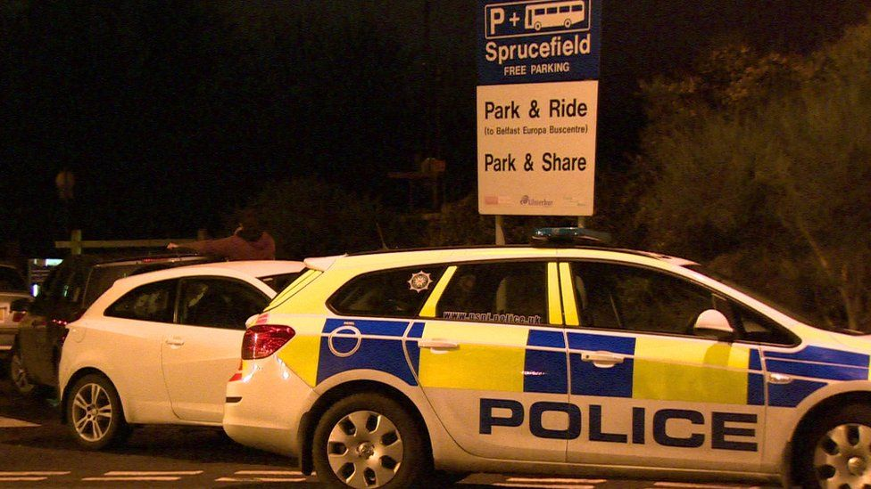 The crash happened near a park and ride facility at Sprucefield