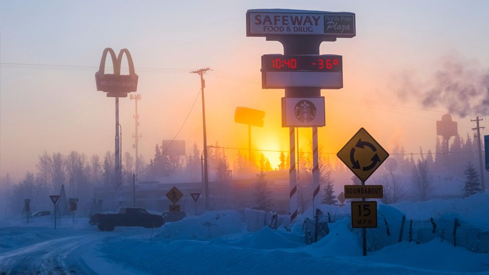 A sign says minus 36 degrees