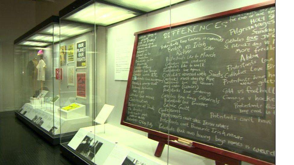 The blackboard from Derry Girls