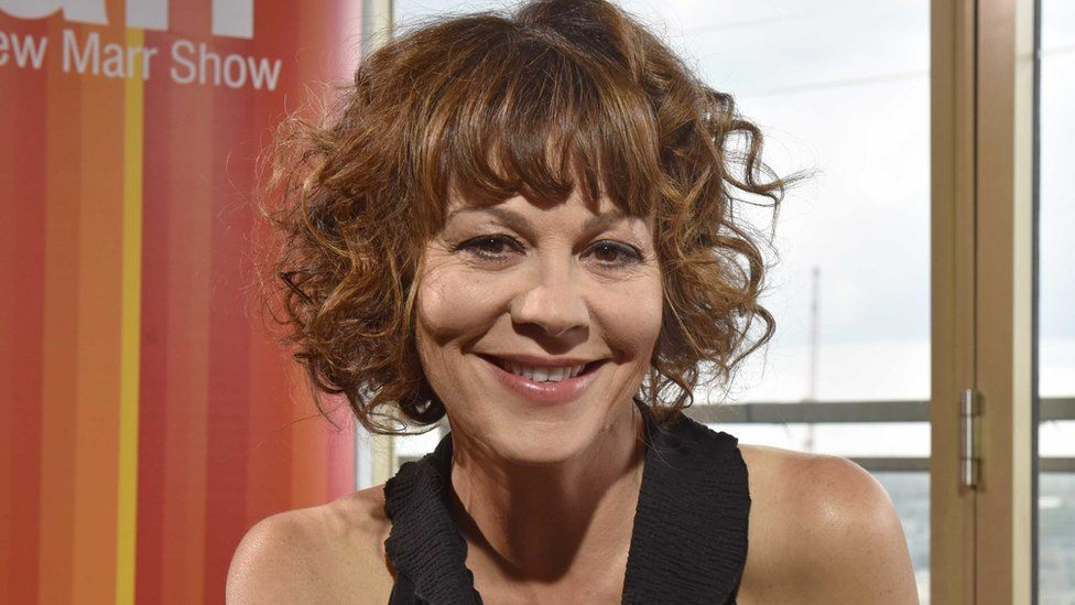 Helen McCrory appearing on the Andrew Marr Show