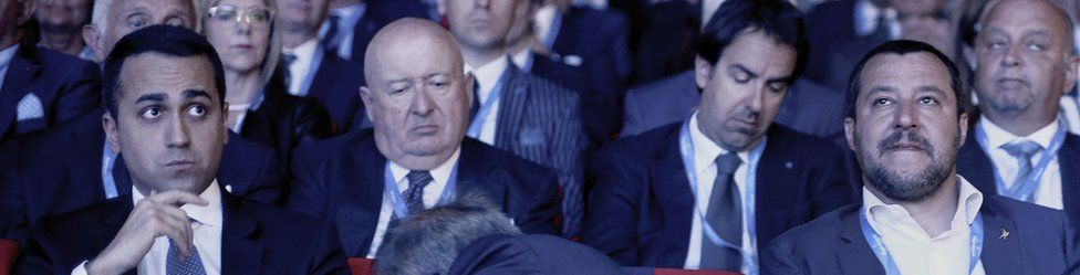 Minister of the Interior Matteo Salvini and Minister of Labour Luigi Di Maio