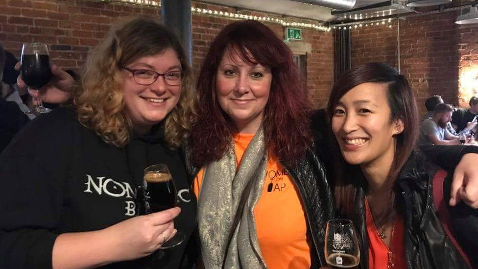 Rachel Auty of Women on Tap with Nicky Kong of the Crown and Kettle and Katie Marriott owner of Nomadic Beers
