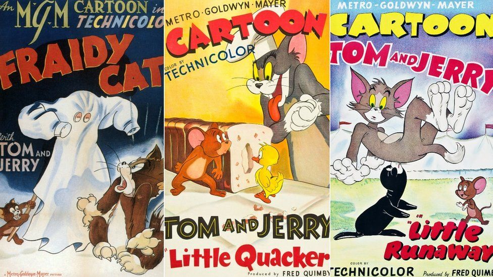 Three posters for early Tom and Jerrys - Fraidy cat, Little Quacker and Little Runaway