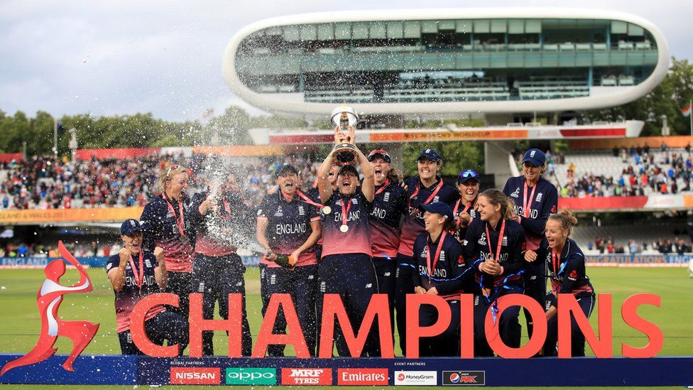 England Women cricket team celebrate World Cup win at Lord's